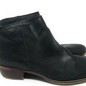 Lucky Brand Black Leather Double Zip Booties